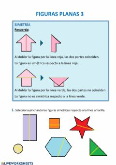 Interactive worksheet Figuras planas 3