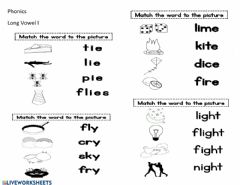 Interactive worksheet Long Vowel I