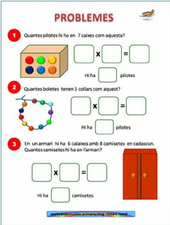 Interactive worksheet Problemes multiplicació
