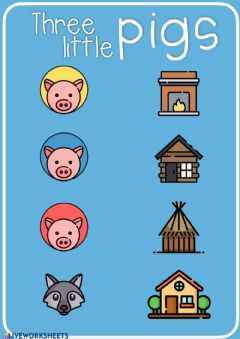 Ficha interactiva Three little pigs