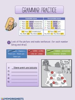 Interactive worksheet GRAMMAR THERE IS- THERE ARE (uNIT 5)