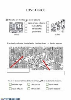 Interactive worksheet Barrio-Plano