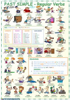 Interactive worksheet Simple past regular verbs