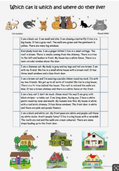 Interactive worksheet Which cat is which and where do they live?