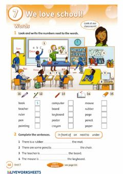Interactive worksheet Get Ready-We love school