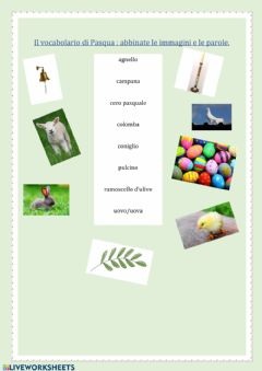 Interactive worksheet Vocabolario di Pasqua