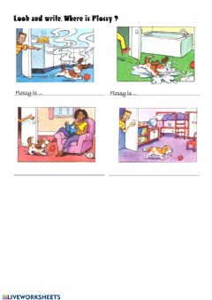 Interactive worksheet Where is Flossy?