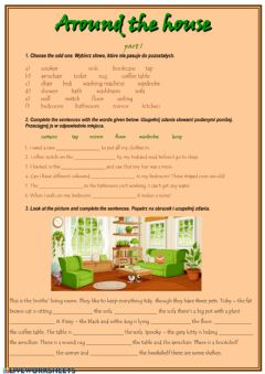 Interactive worksheet Around the house
