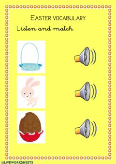 Interactive worksheet Easter vocabulary