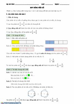 Interactive worksheet Find Common Denominators