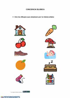Interactive worksheet Conciencia silábica