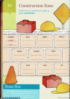 Interactive worksheet Contractions
