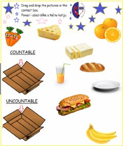 Interactive worksheet Food countable, uncountable