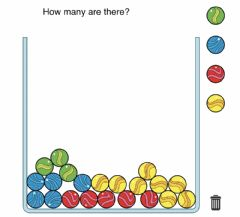 Interactive worksheet Marble COunting