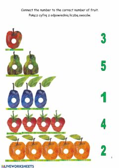 Interactive worksheet The Very Hungry Caterpillar - 3