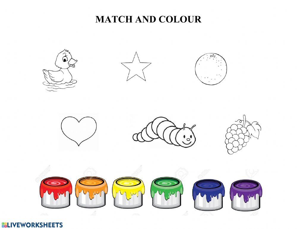 Primary And Secondary Colours Worksheet