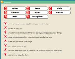 Interactive worksheet Music - Drag and drop (easy)
