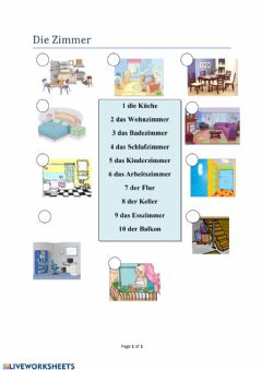 Interactive worksheet Zimmer