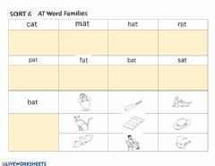 Interactive worksheet Words Their Way Sort 6 At Word Families