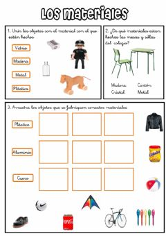 Interactive worksheet Los materiales