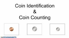 Ficha interactiva Coin Identification and Counting