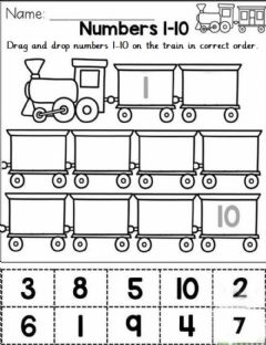 Interactive worksheet Sequence number in correct numbers 1-10