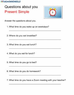 Interactive worksheet What time do you?