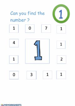Interactive worksheet Number One