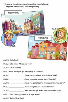 Interactive worksheet City - have got