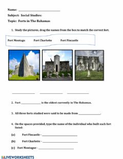 Interactive worksheet Forts in The Bahamas
