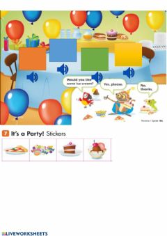 Interactive worksheet Prepare your party.