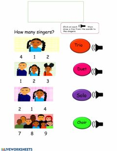 Interactive worksheet Count the Singers