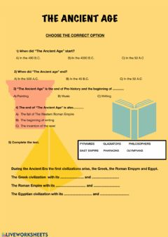 Interactive worksheet Ancient Age