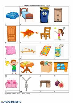 Interactive worksheet Vocabulary test Unit 13 Family and friends 1