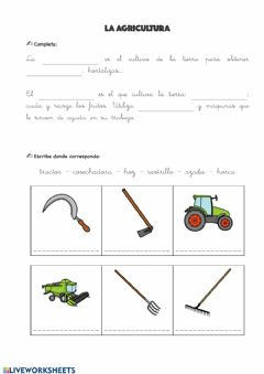 Interactive worksheet la agricultura