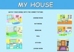 Interactive worksheet My house - 1