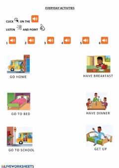 Interactive worksheet Everyday activities