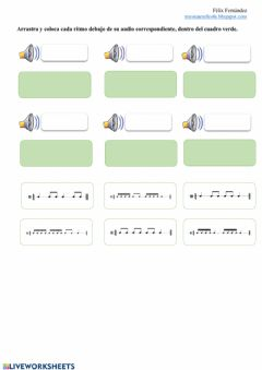 Interactive worksheet Ritmos musicales