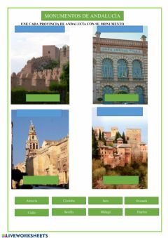 Interactive worksheet Monumentos andaluces