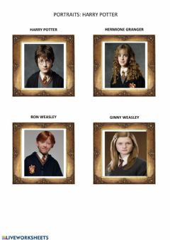 Interactive worksheet Harry Potter Portraits-Physical Description