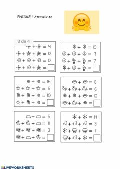Interactive worksheet Enigme