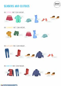 Interactive worksheet Clothes and Seasons