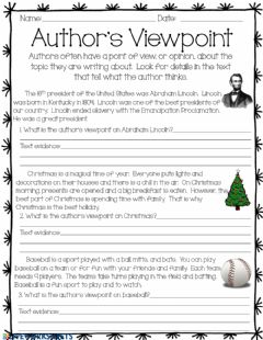 Interactive worksheet Author's Viewpoint