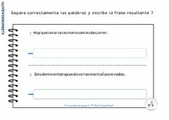 Interactive worksheet Separa palabras 7