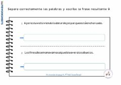 Interactive worksheet Separa palabras 9