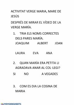 Interactive worksheet Verge maria