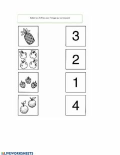 Interactive worksheet Relier