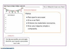 Interactive worksheet Instrucciones