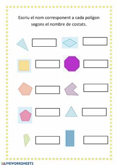 Interactive worksheet Polígons