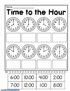 Interactive worksheet Time to hour